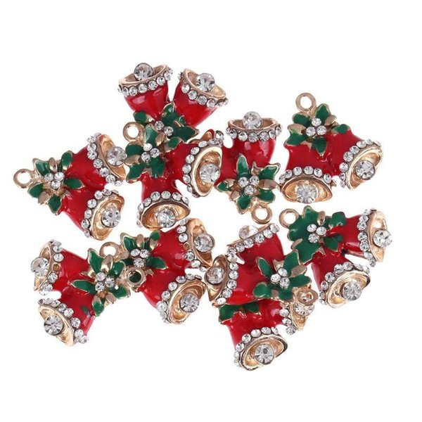 10pcs Cute Mini Christmas Decoration Pendant Ornaments DIY Craft Metal Charms For Clothes Jewelry Christmas Decoration For Home Y18102909