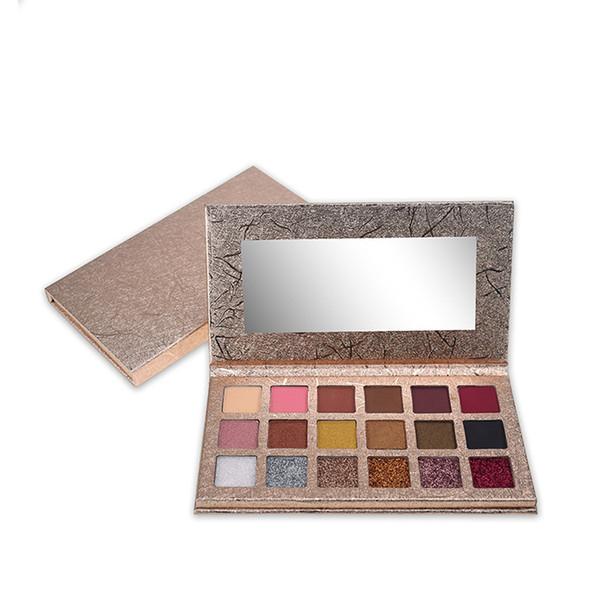 matte shimmer and glitter palette