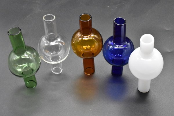 Nouvelle conception 50mm XXXL thermique P Banger Quartz Nail Quartz Banger Carb Cap Bouchon universel en verre coloré Bubble Carb Cap Dabber Verre Carb Cap
