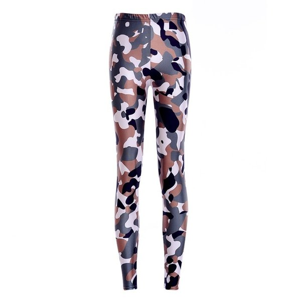 Elastic Casual Pants 3D Digital Printing Camouflage handsome Pattern Women Leggings 7 sizes Fitness Clothing Free Shipping