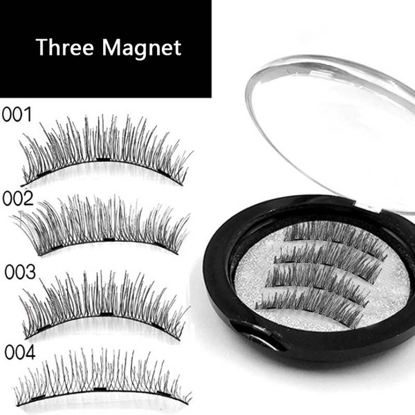 29b1e0da2c5 100Sets Beauty Triple Magnetic False Eyelashes Full Coverage Glue-free  Lashes Cross Long Magnet Eye