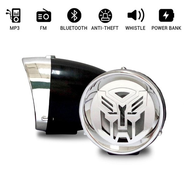top popular 3 inch Motor Amplifier Bluetooth Stereo Speaker Anti-theft Alarm Car Motorcycle Hi-Fi Sound MP3 FM Radio Device 2021