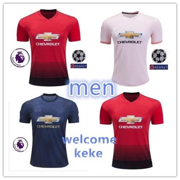 a6eda914 Manchester United jersey 2018 2019 Man Soccer 6 POGBA 9 LUKAKU 11 MARTIAL  14 LINGARD 10