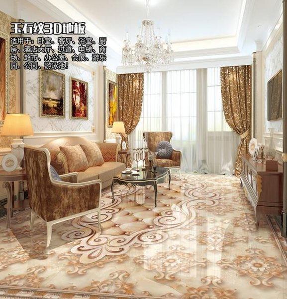 customize photo floor wallpaper Marble murals wallpaper flooring pvc for living room 3d stereoscopic wallpaper