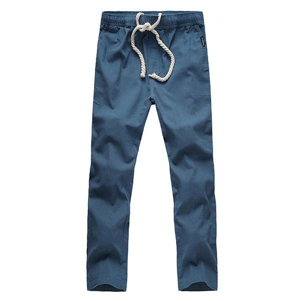 cc6f661569 LASPERAL Plus Size Lightweight Drawstring Pants Men's Quick Dry Linen  Trouser Summer Beach Pants Solid Fitness