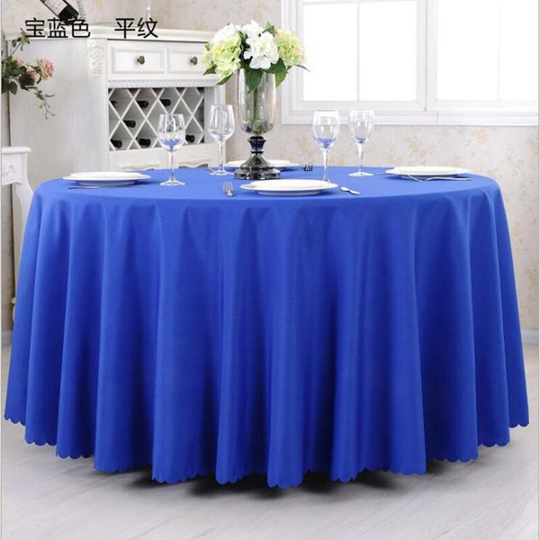 """Wholesale 90"""" Round Plain Polyester Table Cloth Table Cover for Banquet Wedding Party Decor"""