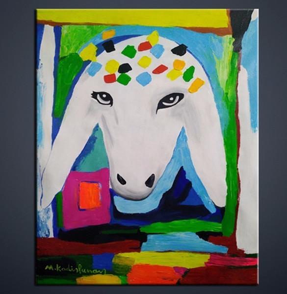 Acheter 2018 Mouton Abstraite Décoration D Ameublement Art Mural Peinture à L Huile à La Main Singe Moderne Livraison Gratuite Usine De 40 21 Du