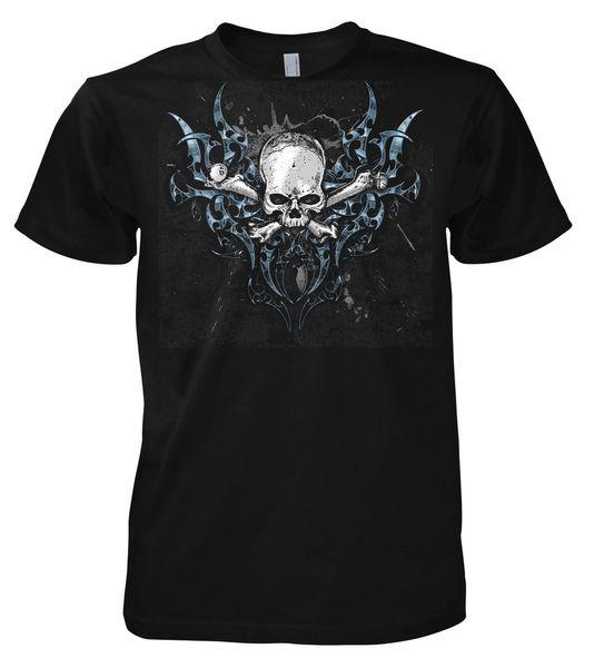 Фантазия Hoja Calavera Camiseta