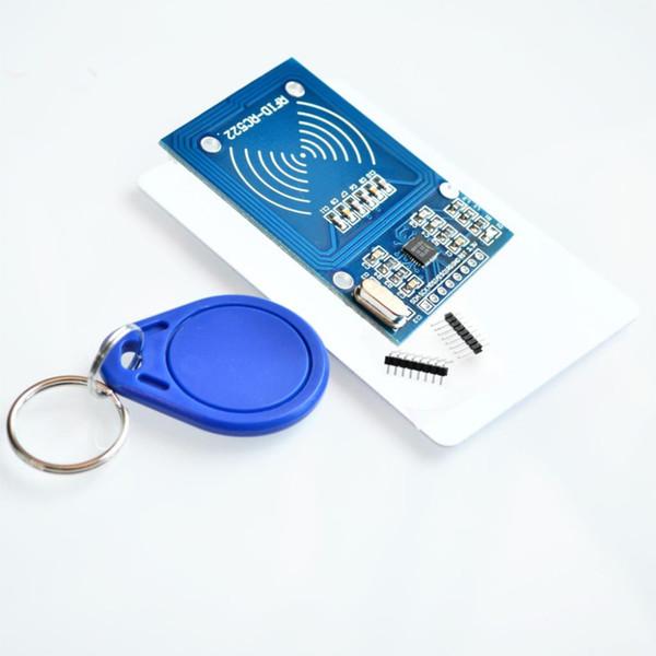 WeiKdez 10 adet / grup MFRC-522 RC522 RFID RF IC kart sensörü modülü Fudan kartı göndermek için, anahtarlık