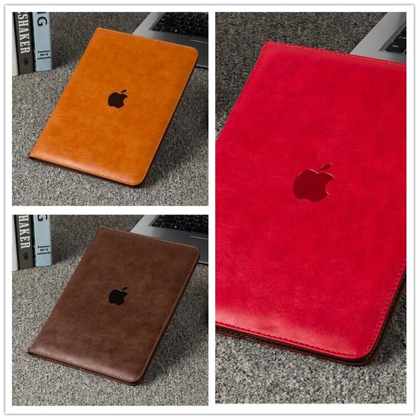 YENI Litchi Desen Kapak Deri Akıllı Kılıf Kapak için iPad air1 / air2 ipad Mini için Standı Tutucu ile Katlanır Folio 1 2 3 4 9.7 inç iPad Pro