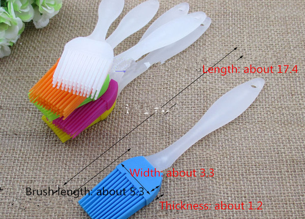 50pcs Free Shipping 24G Food Grade Silicone Oil Brush Heat Resistant BBQ Brushes Outdoor Picnic Cooking Tools Random Colors order