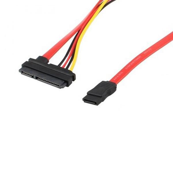 SATA 22Pin Combo to 15 Pin Power + 7 Pin Data Cable 4 Pin Molex to Serial ATA Lead XXM8