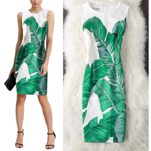 Women Chinese Style Printing Cloth Slash Mid-Calf Sleeveless knitting cotton Dress 18012 New Fashion Hot Dropshipping Wholesale