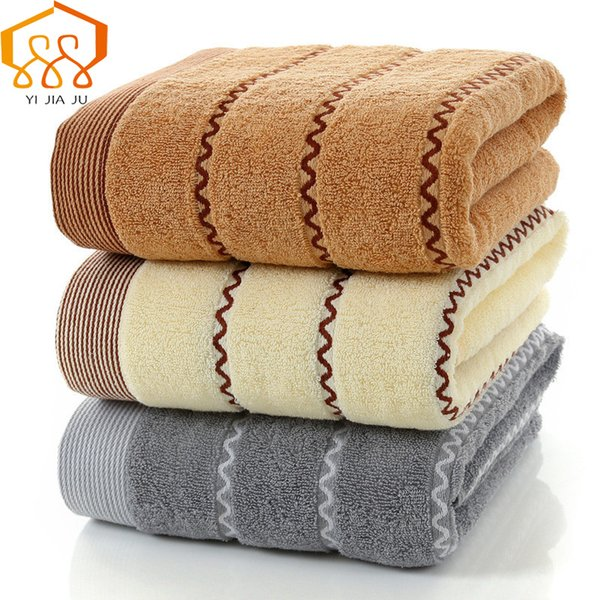 100 Cotton Towel Jacquard Stripe Bath Towel Fast Drying Super Absorbent Beach Towels Springautumn Swimming Spa For Adult Decorative Hand Towels