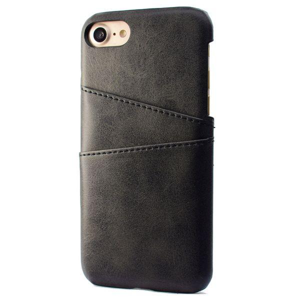 Telefono Shell per iPhone 7 8, PU Custodia posteriore Custodia Vintage Card Slot