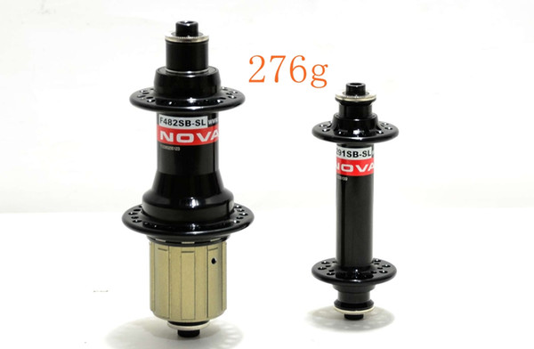 Novatec A291SB/F482SB-SL-BK road bike Super light hubs Front 100mm Rear 130mm black /red Shiman/campy 9/10/11s 20/24H