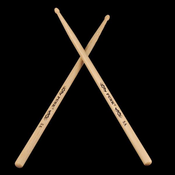top popular Ashtree Wood Drumsticks 5A Drum Stick Wood Tip Drumstick For Drummer 2021
