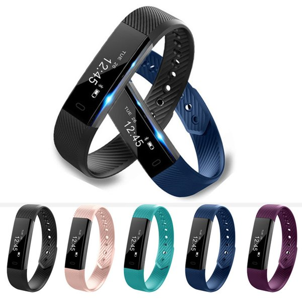 ID115 Smart Bracelet Fitness Tracker Alarm Clock Pedometer Activity Sleep Monitor Bluetooth Sports Wristband for iphone Android phone
