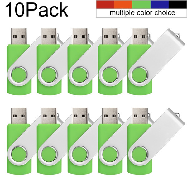 10 Pack Green 32GB USB 3.0 Flash Drives Enough Pen Drive 32gb Thumb Storage Flash Memory Stick U Disk for Computer Macbook Tablet Laptop
