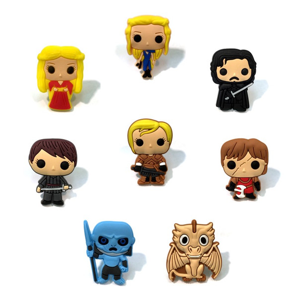 Game of Thrones Coole Cartoon Figur PVC 1,3 cm Kühlschrankmagnete Magnetische Nette Whiteboard Aufkleber Kind Favor Party Geschenk Mode Hauptdekorationen