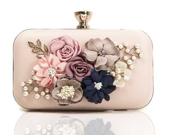 Cross border Amazon wish selling flowers, evening bags, fashion diamond dinner bags, ladies wedding dresses, hand bags