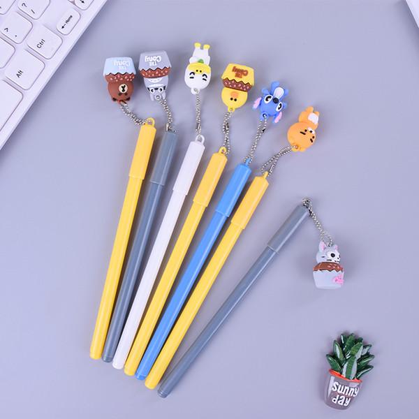 Toblone cartoon animal totoro pendant gel pen cute writting pens canetas material escolar kawaii staitonery paperlaria