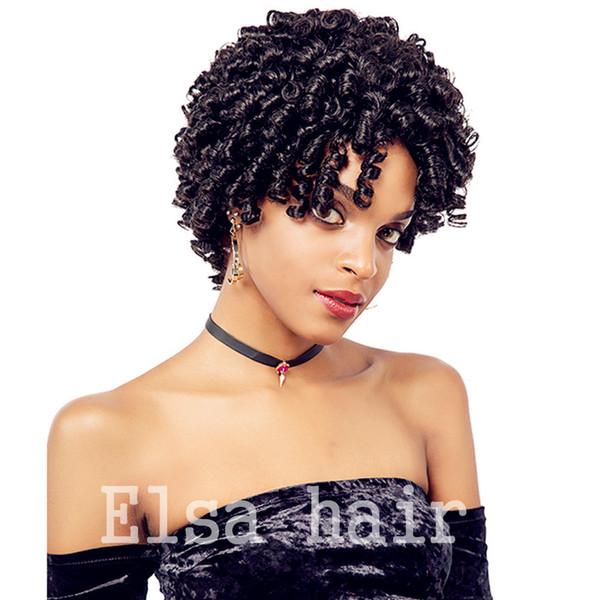 Perruques de cheveux humains afro courts Aucun Lace Front Perruques de cheveux humains courts Kinky Curly cheveux brésiliens Perruques noires naturelles pour les femmes noires