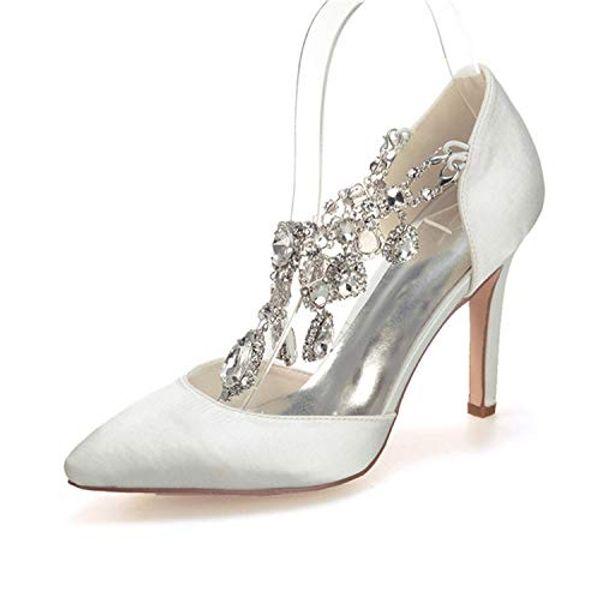 Clearbridal ZXF0608-22 Kadın Kristal Düğün Gelin Ayakkabıları