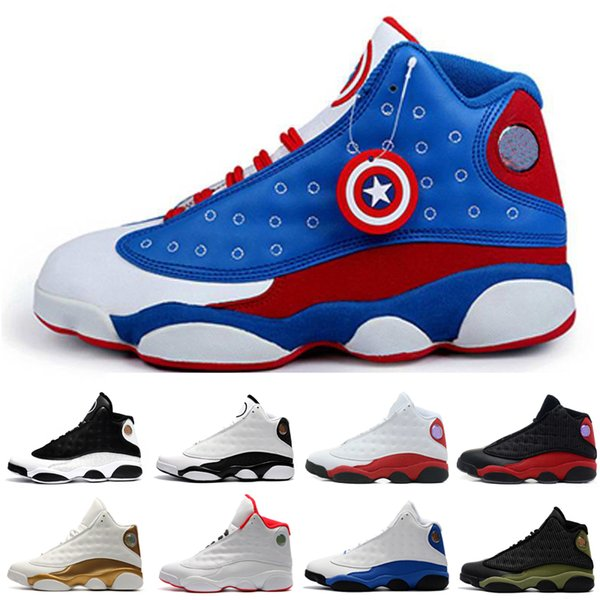 Hot New 13 13s mens basketball shoes Captain America Bred Brown He Got Game sneakers women sports trainers running shoes for men designer