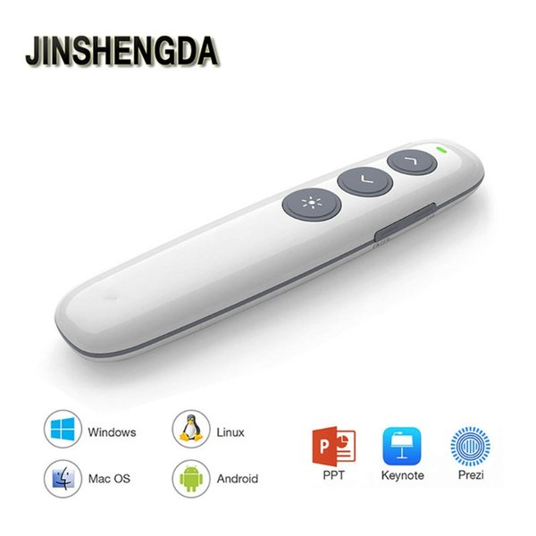 JINSHENGDA PPT Remote Control Pen Wireless Presenter RF 2.4G Presentation Clicker Laser Pointer Remote Control Pen
