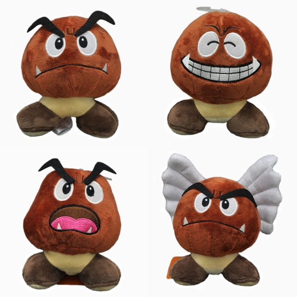 """Hot New 4 Styles 5.5"""" 14CM Super Mario Bros Goomba Plush Doll Anime Collectible Dolls Pendants Stuffed Party Gifts Soft Toys"""