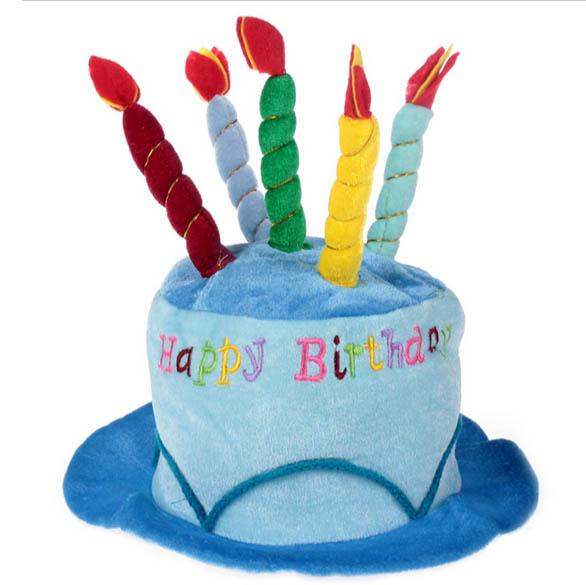 New Party Happy Birthday Cake Hat With Candles Costume Adult