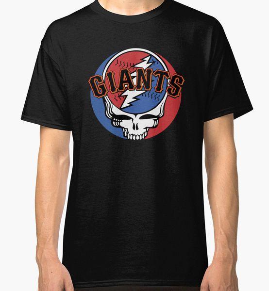 Neue Grateful Dead SF Giants Männer T-Shirt Größe S-2XL 2018 Mode Kurzarm Schwarz T-Shirt Herren 100% Baumwolle Plus Size Top-Tee