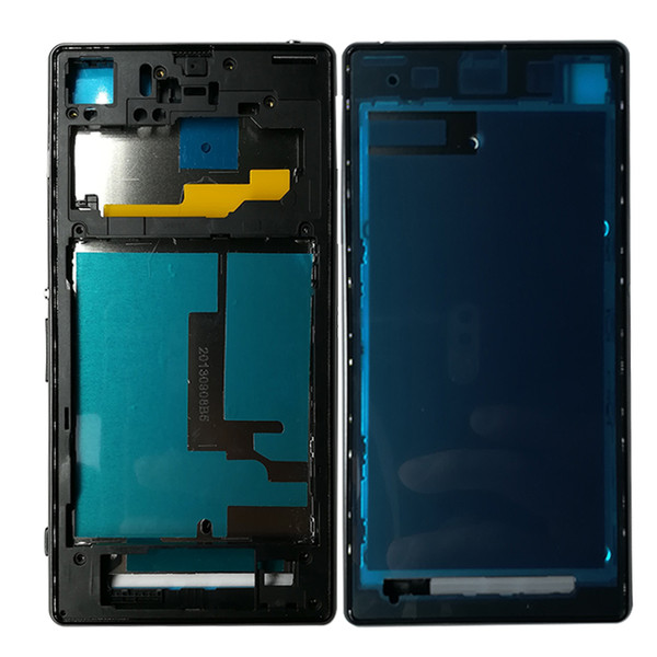 wholesale 5Pcs For Sony Xperia Z1 L39H C6902 C6903 Full Housing Front Chassis + Middle Frame Back Battery Case + Port Cover + Sticker