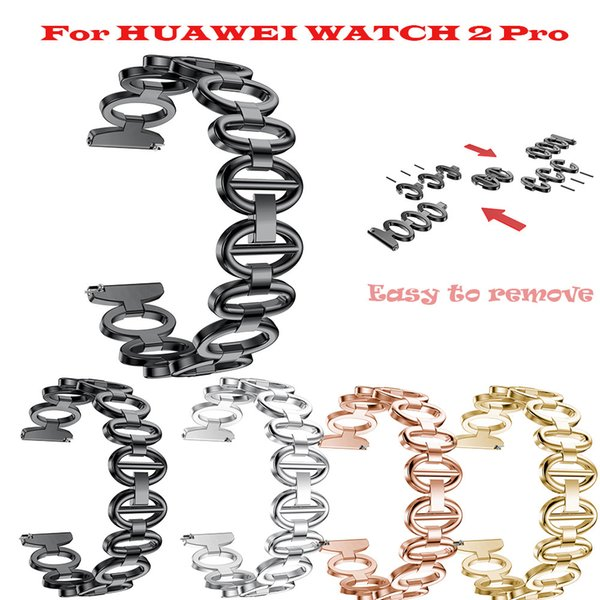 High Quality 2018 Hot Sale Crystal Stainless Steel Chain Bracelet Smart Watch Band Strap For HUAWEI WATCH 2 Pro Gift