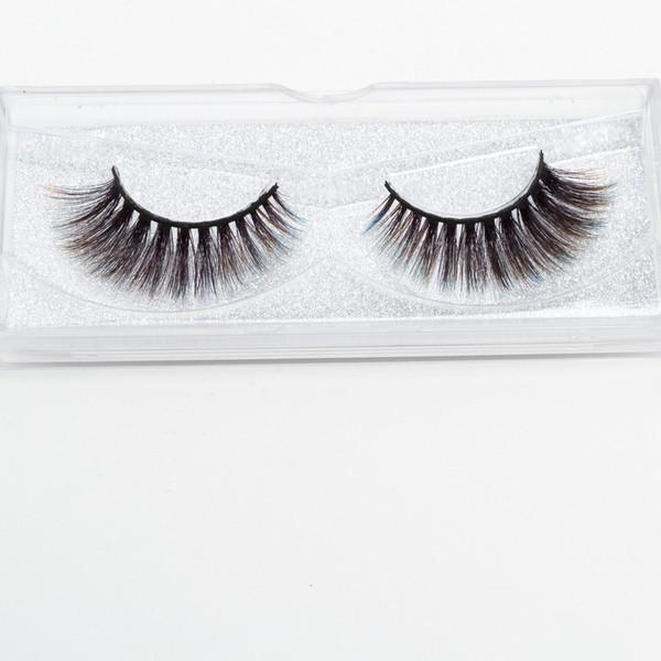 Seashine hot new style Luxurious eyelashes colorful Synthetic 3d silk eyelash strips eyelashes color false lashes free shipping shipping