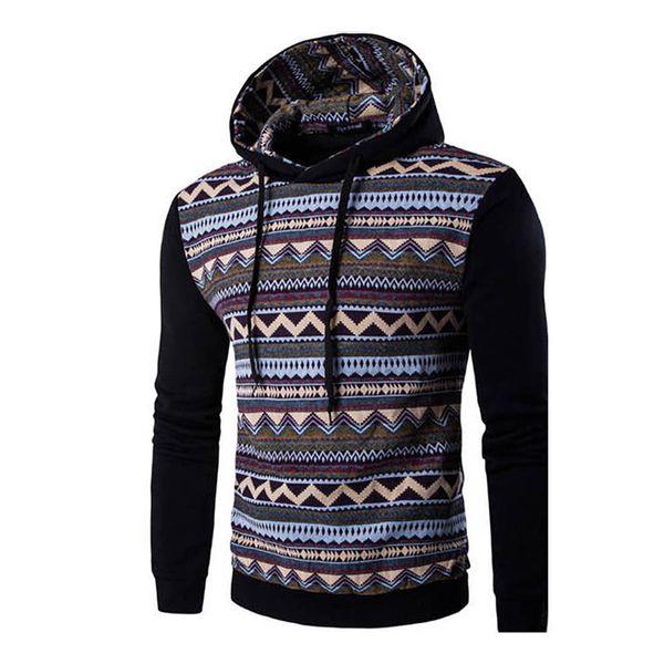 Men's Hoodies With Hood 2018 Brand Male Long Sleeve Solid Color Wave Sweatshirt Mens Tracksuit Sweat Coat Sportswear 8J0627