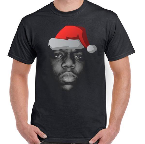 Xmas The Notorious B.I.G. Biggie Smalls Mens Funny T-Shirt Big Hip-Hop Santa Pride Of The Creature T-Shirts