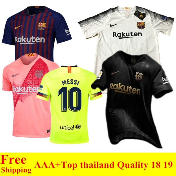 online store f07d6 c0111 2018 2018 2019 Black Barcelona Soccer Jersey Suarez O.Dembele 18 19 Home  Away Fcb Football Shirts Messi Pique Coutinho Barcelona Third Jersey From  ...