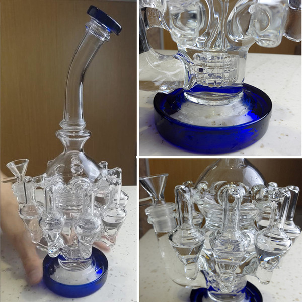 Dab Rig Bong Heady Glass Water Pipe 14mm Glass Bowl Octopus Arms Glass Bubbler Percolator Bong 12.6inch Oil Rigs Tobacco Hookahs