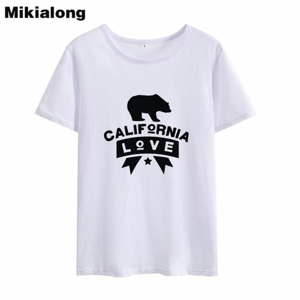 Women's Tee Mrs Win Bear Graphic T Shirts Women Black White Hipster Harajuku T-shirt Femme Cotton Novelty Top Camiseta Mujer Manga Corta