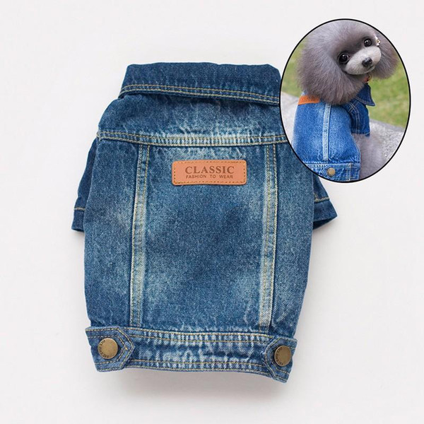 Leisure Cowboy Jean Clothes For Small Dogs Classic Denim Jacket Coat Pet Products for Chihuahua Yorkies Terrier S-XXL All Seasons Hot Sale