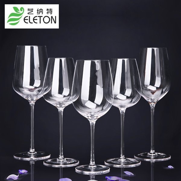 ELETON 2pcs/set Short Stem Lead-Free White Wine Crystal Glass Wine Gift, Accessories Wedding celebration supplies
