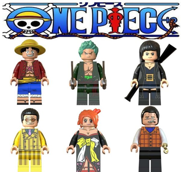 best selling legoing ONE PIECE Figures blocks Moneky D Luffy Nami Roronoa Zoro Nico Robin Crocodile building blocks toys gifts