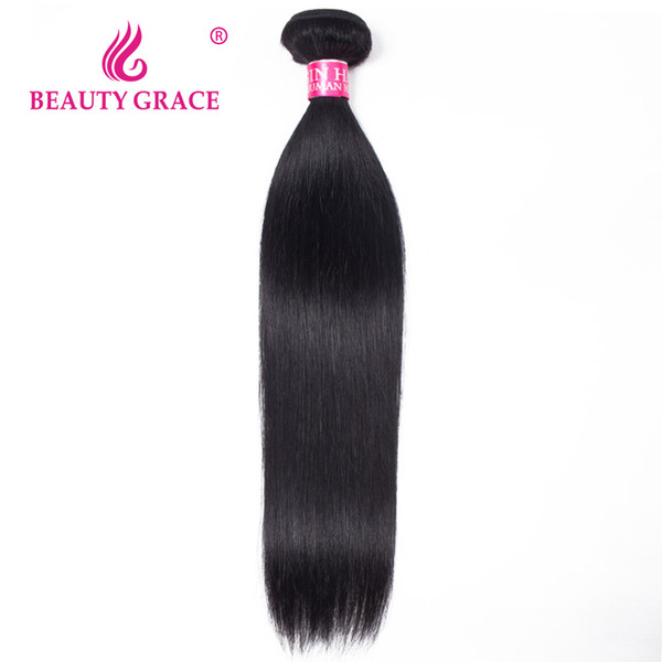 Beauty Grace Brazilian Straight Hair Weave Bundles Natural Color Remy 100% Human Hair Weaving 10-28 Inch
