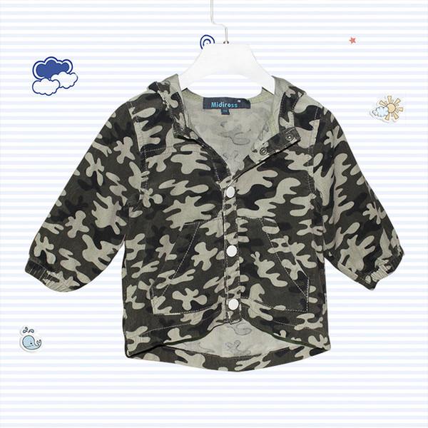 Nouvelle arrivée printemps automne bébé garçons hoodies camouflage enfants manteau à capuchon vestes sweats coton tops vêtements pour enfants