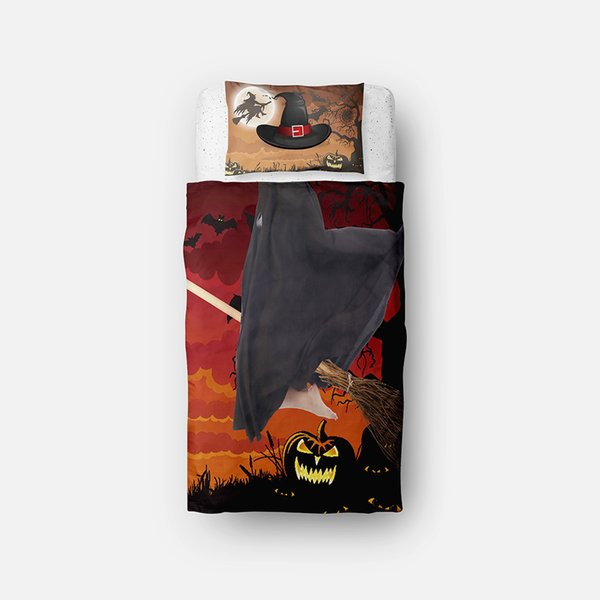 Halloween Theme Witch Pattern Children's Bedding Sets Twin,Single,2pcs