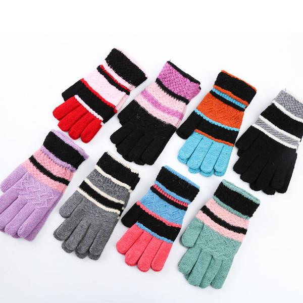 Knitted Fingerless Gloves Autumn Winter Warm Mittens Fashion Men Women Half Finger Gloves Artificial Wool Warmer Glove
