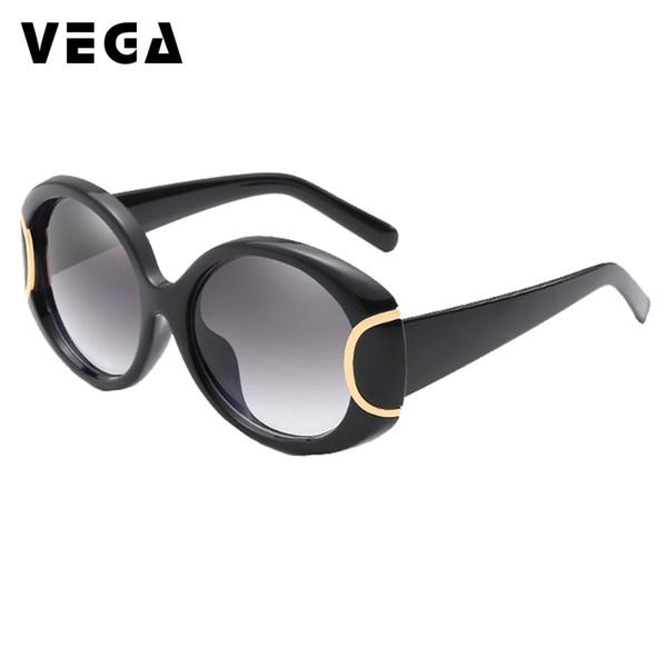 VEGA Eyewear Fashion Oval Sunglasses Women for Big Face Ladies Oversized Glasses with Large Frame Retro Vintage Sunglasses 226