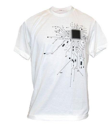 Computer CPU Core Heart T-Shirt Men's GEEK Nerd Freak Hacker PC Gamer Tee Summer Short Sleeve Cotton T Shirt Euro Size